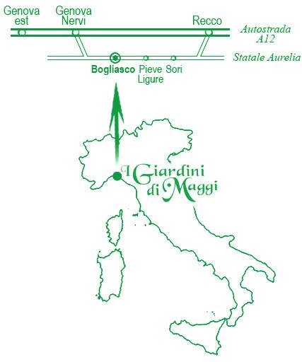 I Giardini di Maggi: cartina per raggiungere vivaio